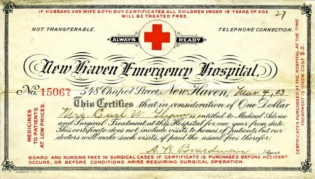 New Haven Emergancy Hospital 03-04-1903