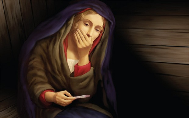 virgin-mary_looking-at-pregnancy-test