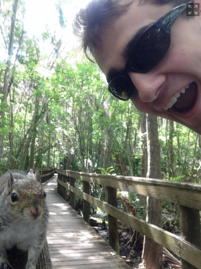 Selfie with squirrel
