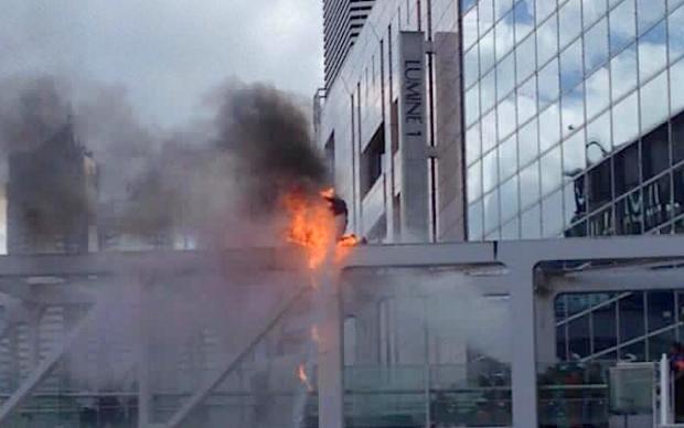 self-immolation Shinjuku