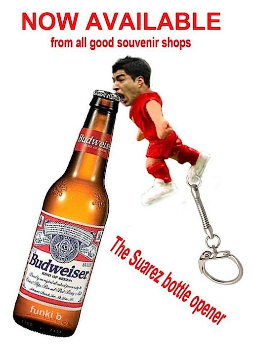 Suarez bottle opener