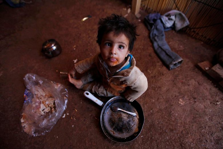 A Syrian refugee child