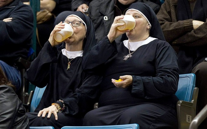 nuns enjoy curling
