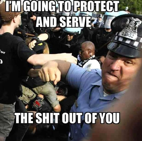 protect and serve, my ass