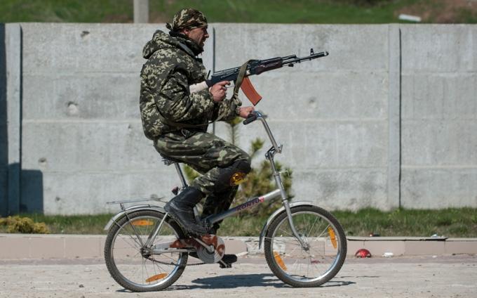 Ukie army grocery bike