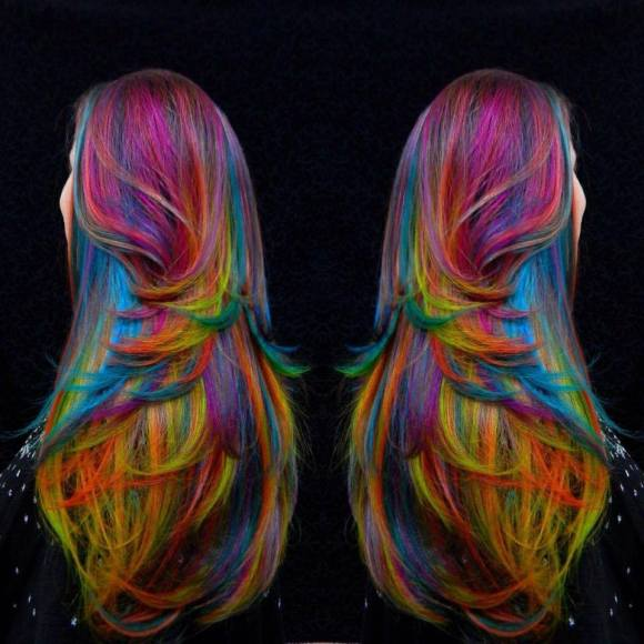 rainbow hair by Alix Maya Clymer