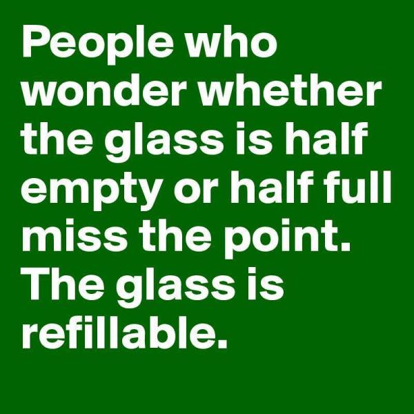 glass half-full