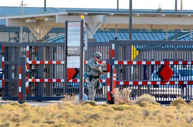 Gate at Kirtland AFB