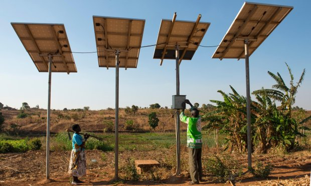 solar-powered water pump, malawi
