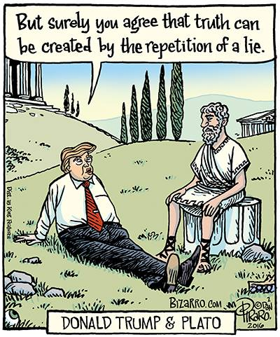 Image result for truth trump cartoon