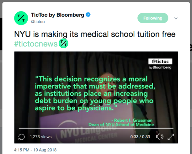 NYU medical school is now tuition free – Eideard